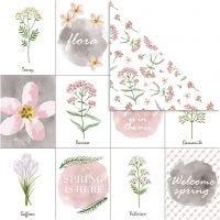 Design-Papier, Blumen, 30,5x30,5 cm, 180 g, 5 Bl./ 1 Pck