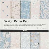 Design-Papier im Block, 120 g, Rosa, 50 Bl./ 1 Pck