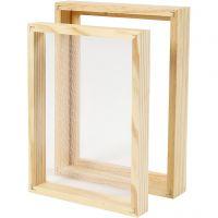 Doppelrahmen zum Papierschöpfen, A5, Größe 25x19x3cm , 1 Stk
