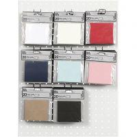 Tischkarten, Größe 9x4 cm, 220 g, Sortierte Farben, 8x10 Pck/ 1 Pck