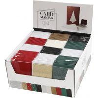 Karten & Kuverts im Set mit Display, Kartengröße 10,5x15 cm, Umschlaggröße 11,5x16,5 cm, 12x10 Pck/ 1 Pck