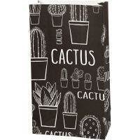 Papiertüten, Kaktus, H: 21 cm, Größe 6x12 cm, 80 g, 10 Stk/ 1 Pck