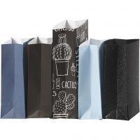 Papiertüten, H: 21 cm, Größe 6x9 cm, 80 g, 5x10 Pck/ 1 Pck