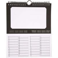 Ewiger Kalender, Größe 19x23 cm, 180 g, 5 Stk/ 1 Pck