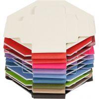 Farbige Faltschachteln, Größe 5,5x5,5 cm, 250 g, 100 Stk/ 1 Pck
