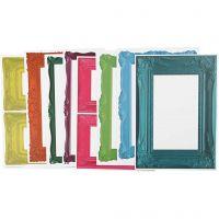 Rahmen, Größe 26,2x18,5 cm, Kräftige Farben, 16 Bl. sort./ 1 Pck