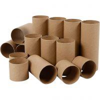 Papprollen, L: 4,7+9,3+14 cm, 60 Stk/ 1 Pck
