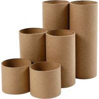 Papprollen, L: 4,7+9,3+14 cm, D: 5 cm, 6 Stk/ 1 Pck