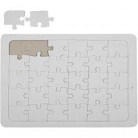 Puzzle, Größe 21x30 cm, Weiß, 1 Stk