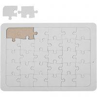 Puzzle, Größe 15x21 cm, Weiß, 1 Stk