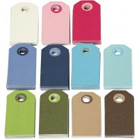 Farbige Geschenkanhänger, Größe 6x3 cm, Inhalt kann variieren , Sortierte Farben, 200 sort./ 1 Pck