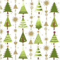 Papierservietten, Weihnachtsbäume, Größe 33x33 cm, 20 Stk/ 1 Pck