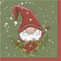 Papierservietten, Weihnachtsfee, Größe 33x33 cm, 20 Stk/ 1 Pck