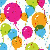 Papierservietten, Luftballons, Größe 33x33 cm, 20 Stk/ 1 Pck