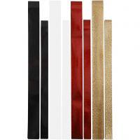 Folienstreifen für Fröbelsterne - Sortiment, 4x10 Pck/ 1 Pck