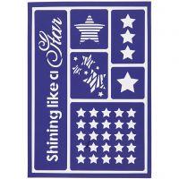 Flexible Schablone, Shining like a star, 21x14,8 cm, 1 Stk