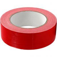 Isolier-/Gewebeband, B: 38 mm, Rot, 25 m/ 1 Rolle