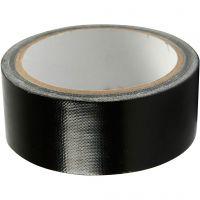 Isolier-/Gewebeband, B: 38 mm, Schwarz, 25 m/ 1 Rolle