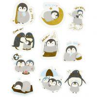 Motiv-Sticker, Pinguine, Größe 40-53 mm, 30 Stk/ 1 Pck