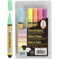Deko-/Stoffmalstifte, Strichstärke 3 mm, Neonfarben, 6 Stk/ 1 Pck