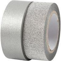 Design-Klebeband, B: 15 mm, Silber, 2 Rolle/ 1 Pck