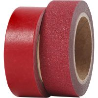 Design-Klebeband, B: 15 mm, Rot, 2 Rolle/ 1 Pck