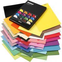 Color Bar-Papier, A4, 210x297 mm, 100 g, Sortierte Farben, 16x10 Bl./ 1 Pck
