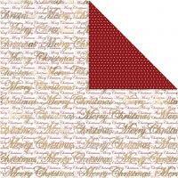 Design-Papier, Frohe Weihnachten & Punkte, 30,5x30,5 cm, 180 g, Gold, 3 Bl./ 1 Pck