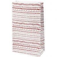 Papiertüten, Kritzeleien, H: 21 cm, Größe 6x12 cm, 8 Stk/ 1 Pck