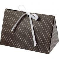 Geschenkverpackung, Anker, Größe 15x7x8 cm, 250 g, Dunkelgrau, Weiß, 3 Stk/ 1 Pck