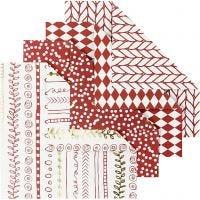 Origami-Papier, Größe 10x10 cm, 80 g, Rot, 40 Bl./ 1 Pck
