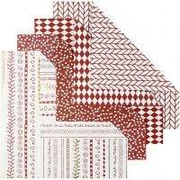 Origami-Papier, Größe 15x15 cm, 80 g, Rot, 40 Bl./ 1 Pck