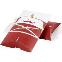 Geschenkverpackung, Nussknacker, Größe 14,9x9,4x2,5 cm, 300 g, Gold, Rot, Weiß, 3 Stk/ 1 Pck