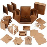 Explosion Box, Größe 7x7x7,5+12x12x12 cm, Natur, 1 Stk