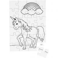 Puzzle, Größe 15x21 cm, Weiß, 16 Stk/ 1 Pck