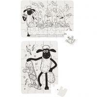 Puzzlespiel, Größe 13x18,3 cm, 2 Stk/ 1 Pck