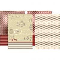 Découpage-Papier, 25x35 cm, 17 g, 8 Bl. sort./ 1 Pck