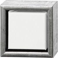 ArtistLine Künstlerleinwand mit Rahmen, Tiefe 3 cm, Größe 14x14 cm, Antiksilber, Weiß, 1 Stk