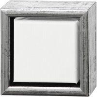 ArtistLine Künstlerleinwand mit Rahmen, Tiefe 3 cm, Größe 14x14 cm, 360 g, Weiß, 6 Stk/ 1 Pck