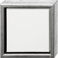 ArtistLine Künstlerleinwand mit Rahmen, Tiefe 3 cm, Größe 19x19 cm, Antiksilber, Weiß, 1 Stk