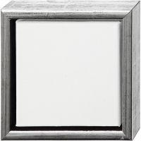 ArtistLine Künstlerleinwand mit Rahmen, Tiefe 3 cm, Größe 19x19 cm, Weiß, 6 Stk/ 1 Pck