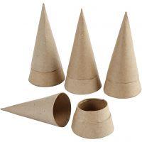 Schachteln in Kegelform, H: 13 cm, D: 6,5 cm, 4 Stk/ 1 Pck