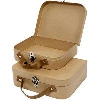 Koffer, handgearbeitet, Größe 25,5x20x8 cm, 2 Stk/ 1 Set