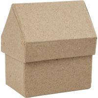 Schachteln in Hausform, H: 10,5 cm, Größe 6x8,5 cm, 4 Stk/ 1 Pck