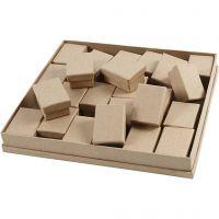 Schachteln, H: 3,5 cm, Größe 5x7 cm, 24 Stk/ 1 Pck