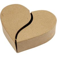 Schachtel in Herzform, H: 5 cm, D: 16,5 cm, 1 Stk