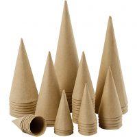 Kegel, H: 8-20 cm, D: 4-8 cm, 50 Stk/ 1 Pck