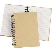 Notizbuch mit Spiralbindung, A6, 60 g, Braun, 1 Stk