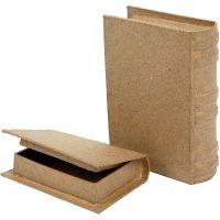 Schachtel in Buchform, Größe 8x11,5x2,5 cm, 2 Stk/ 1 Set