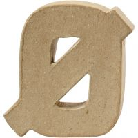 Buchstaben, Ø, H: 10 cm, Dicke 2 cm, 1 Stk